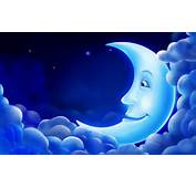 Download CG 3D Animation PC Background Blue Moon Smile Sky  Star