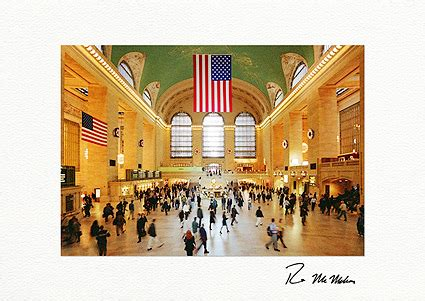 Holiday Station Gift Card - personalized grand central station holiday wreaths greeting cards