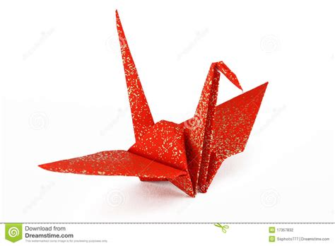 Origami Crane Images - and gold origami crane bird stock photography image