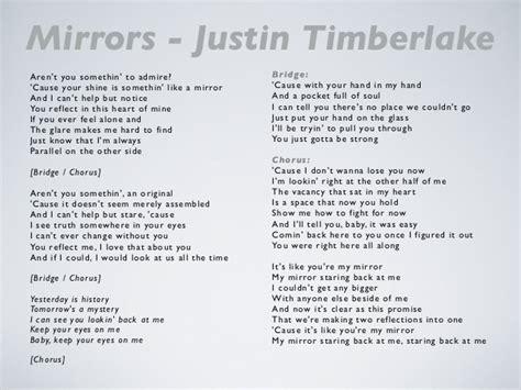 in the mirror testo mirrors justin timberlake lyrics