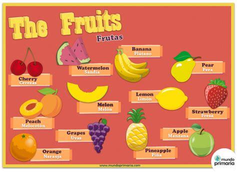 imagenes en ingles para jovenes las frutas en ingl 233 s mundo primaria