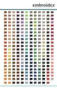 embroidex color chart 260 spools embroidex 100 polyester embroidery machine