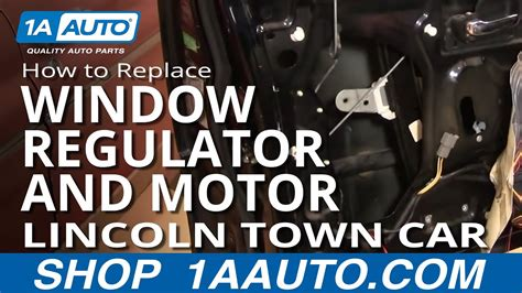 how cars engines work 2011 lincoln mkt windshield wipe control how to replace install front window regulator and motor part 1 lincoln town car 98 11 1aauto com