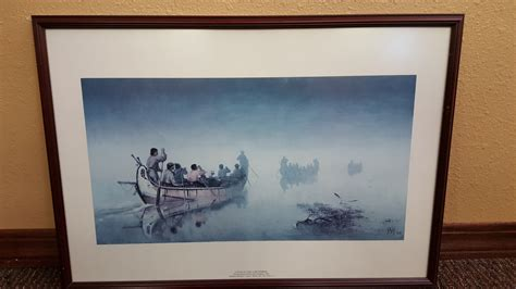canoes in a fog lake superior misc gallery miller s action office furniture