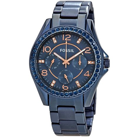 Fossil Rilley Stainless Blue Es4294 fossil multifunction blue es4294 fossil watches jomashop