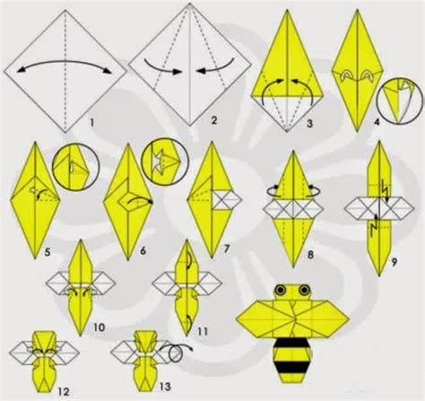 How To Make A Paper Bee - how to make an origami bee easy origami for
