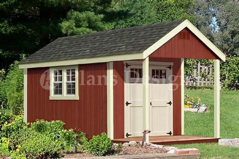 16x20 Ft Guest House Storage Shed With Porch Plans P81620 Building Plans For Shed With Porch