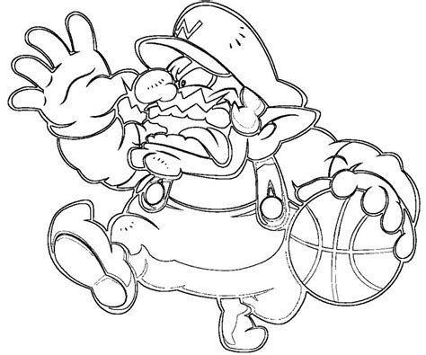 Wario Coloring Pages Coloring Home Wario Coloring Pages