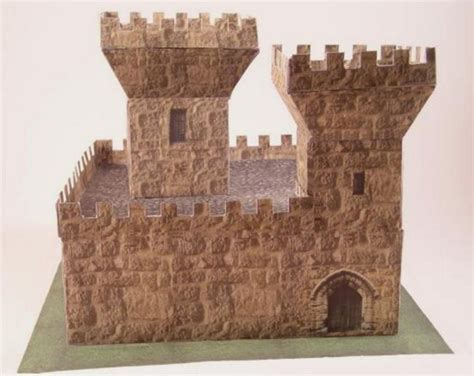 medieval castle ver 3 free building paper model download