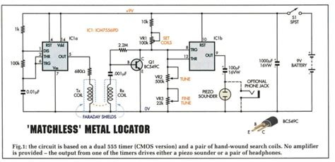 metal detector circuit diagram metal detector circuit circuits4you