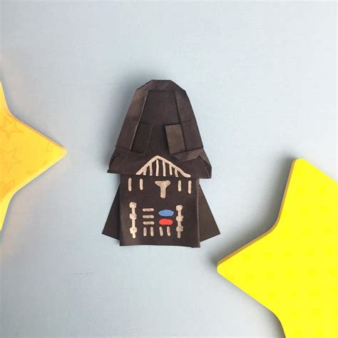 Origami Darth Vader - origami darth vader wars origami tutorial directions