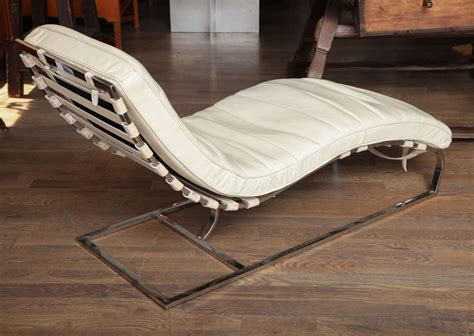 white leather chaise longue white leather chaises longue at 1stdibs