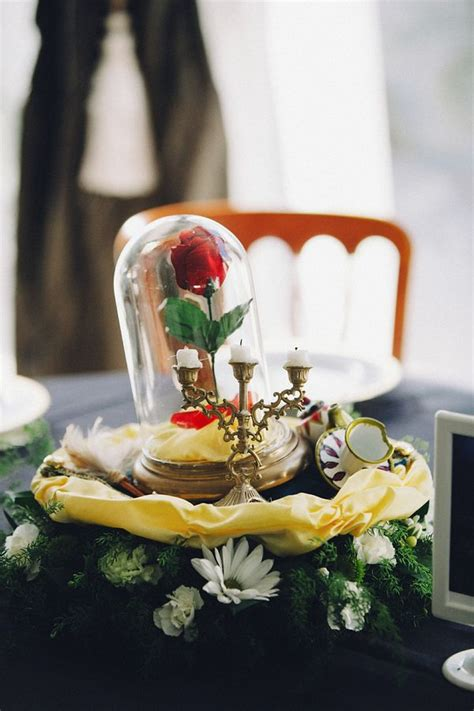 these two made amazing disney themed centerpieces out of their childhood toys disney weddings