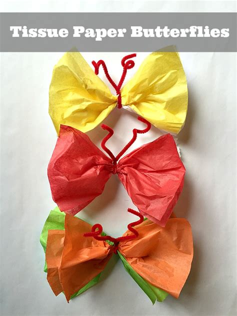 What Can You Make Out Of Tissue Paper - easy craft make paper butterflies family focus