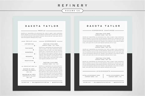 Resume Template 4 Pack by Resume Template 4 Pack Cv Template