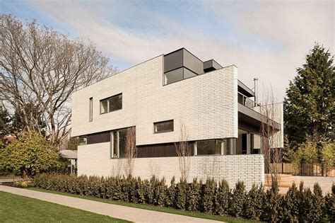 This Vancouver Home Wows with a White Brick Façade and