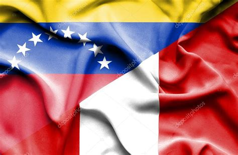 imagenes peru venezuela bandera de per 250 y venezuela foto de stock 169 alexis84