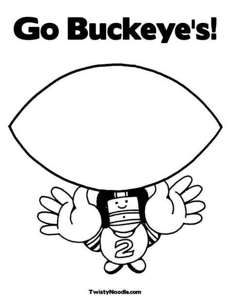 free coloring pages of ohio state logo