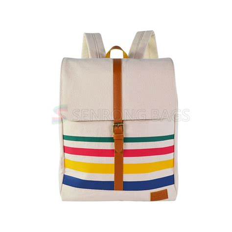 Canvas Travel Backpack White fashion canvas travel backpack srf18 005 custom bags factory