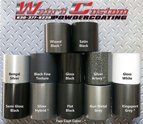 powder coating colors powder coating