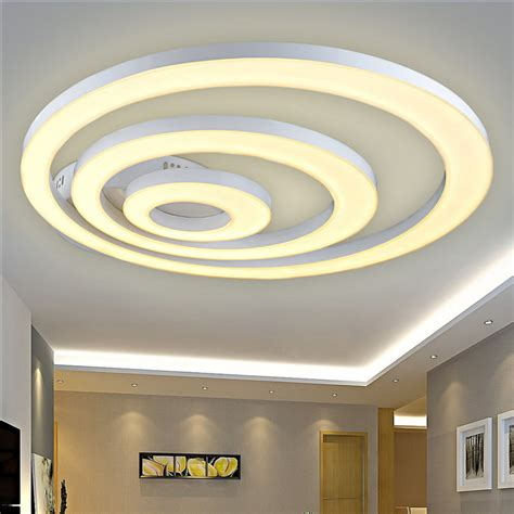 White Acrylic Led Ceiling Light Fixture Flush Mount L Acrylic Ceiling Lights