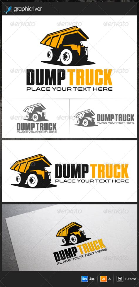 Dump Truck Logo Templates By by Dump Truck Logo Templates Graphicriver