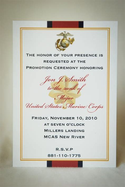marine officer retirement invitation  starsandstripe