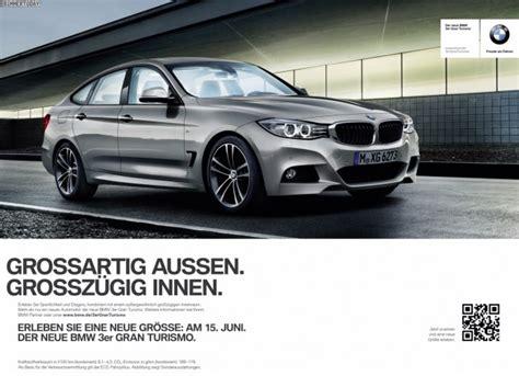 Bmw 3er Werbung by Werbung Zum Bmw 3er Gt F34 Kagne Rund Um Form Raum