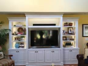 Lighted Decorative Trees White Entertainment Center Traditional Family Room