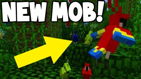 new parrot bird mob coming to minecraft gameplay youtube