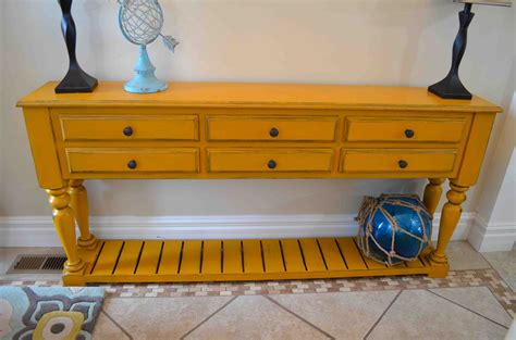 Yellow Console Table Grand Island Console Table Tool Belt
