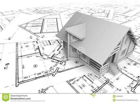 house drawing tool blokhuis op de tekeningen royalty vrije stock fotografie beeld 22663597