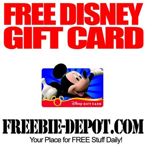Easy Way To Get Free Gift Cards - free 50 disney gift card freebie depot