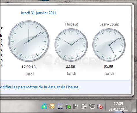 afficher horloge sur bureau windows 7 comment afficher horloge sur bureau vista