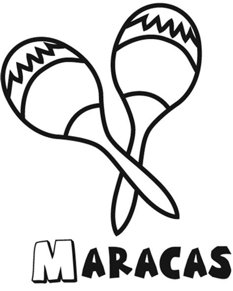 Maracas Coloring Pages free coloring pages of maracas