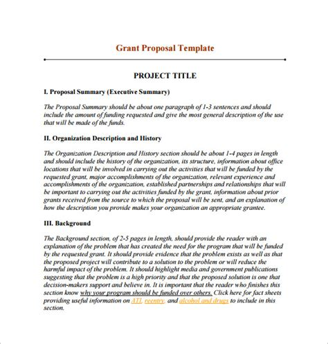 funding proposal template 15 free sle exle