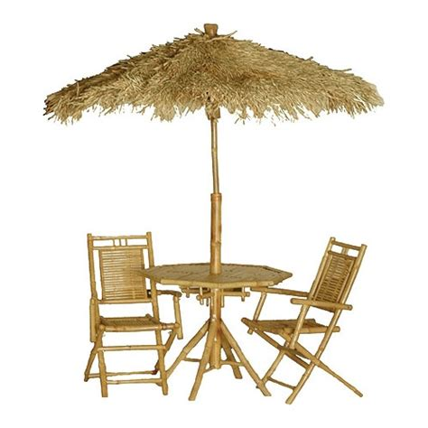 bamboo umbrella table and chair sets bamboo products