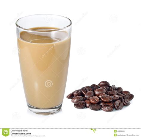 coffee milk wallpaper coffee milk and coffee beans stock photo image 42206643