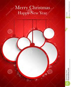 merry christmas red paper balls hanging royalty free stock