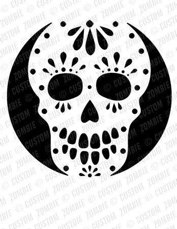 pumpkin stencil sugar skull carving crafts downloadable