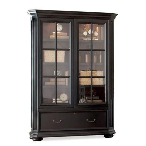 Riverside Furniture Allegro Sliding Door Bookcase In Bookcase With Doors Black