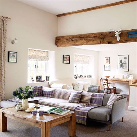 country homes and interiors living room modern oxfordshire country house house