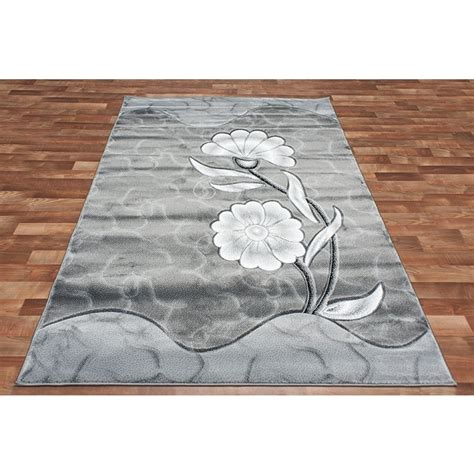 grey flower rug discount overstock wholesale area rugs discount rug depot modern silver area rug black