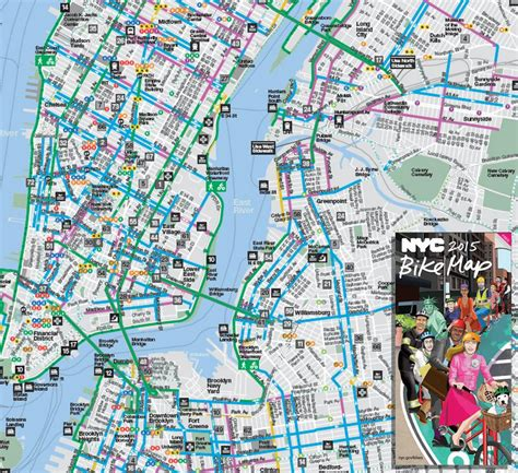 New York Botanical Garden Map Pdf New Bike Maps Are Out 171 Bike Nyc