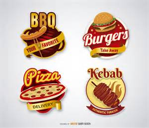 kebab and bbq logos vector download