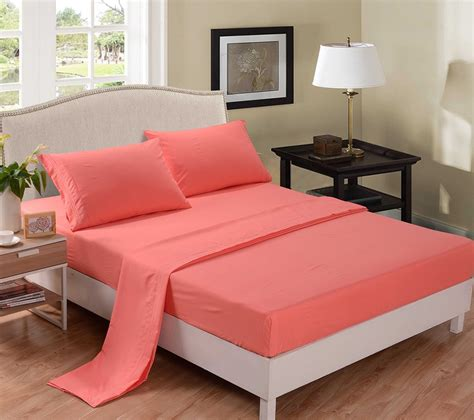 Colorful Bed Sheets Coral Colored Comforter And Bedding Sets