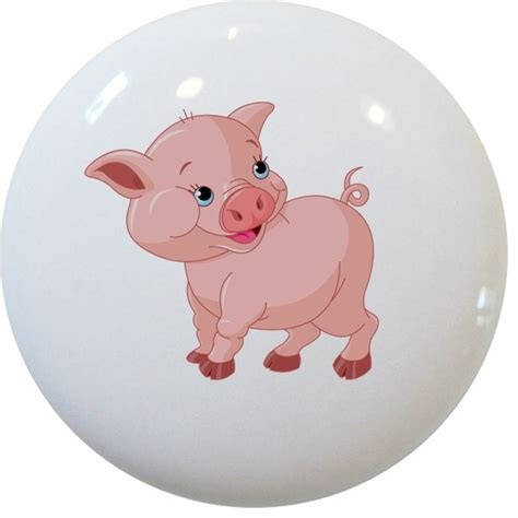 baby pig ceramic cabinet drawer knob cabinet and drawer