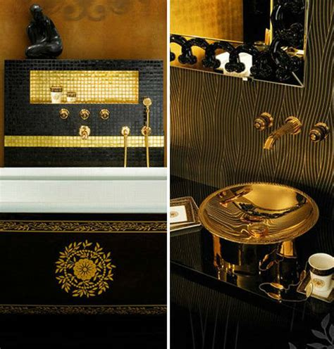 Traditional Bathrooms Ideas by Luxury Black And Gold Bathrooms Decoholic