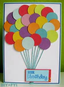 diy fyi creatively created - Ideas For Birthday Cards