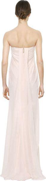 Mcqueens Draped Silk Dress As Seen On Liu And Miller by Mcqueen Strapless Draped Silk Chiffon Dress In